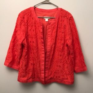 Christopher & Banks Bright Coral Dressy Blazer